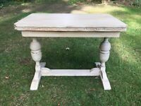 Hand Painted Vintage Shabby Chic Oak Coffee/ Side Table