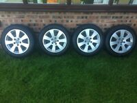 "Audi A3 16"" Alloy Wheels with tyres"