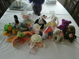 ASSORTMENT of TY collectable soft toys
