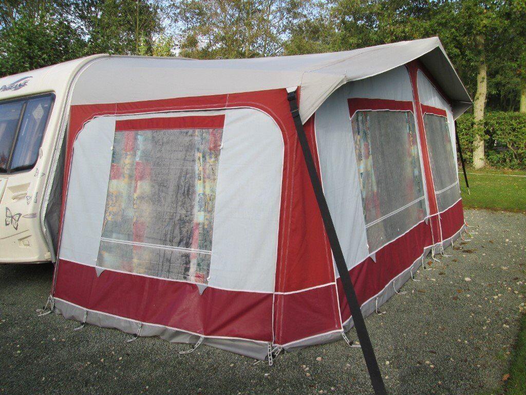 STARCAMP Cameo Bordeaux Full Caravan Awning Size 13 950 975 Cms