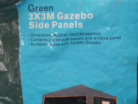 3m x 3m gazebo and side panels