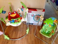 Rainforest jumperoo and swing set