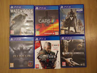 PS4 Games Watch Dogs, Destiny, Mortal Kombat X(Sold), Diablo 3, Project Cars, Witcher3(Sold)