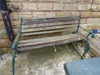Free to collect old bench needs a lot of TLC