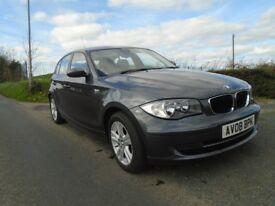 2010 bmw 118 se 2.0 turbo diesel 5 dr grey 6 sp full mot full sh £30 tx