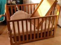 Mothercare cot with drawer