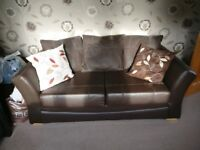 Modern PU Leather 2 Seater Sofa Bed