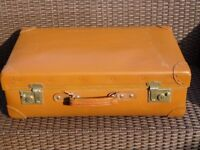 Vintage tan suitcase. Orient made brand REDUCED