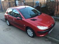 2004 Peugeot 206 (1.4cc) petrol—-7 months mot,2 keys,clean interior and body,ac,cd,excellent runner.