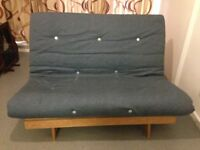 Double Futon Sofa Bed with Solid Wood Frame Comfortable Sofabed Futon Easily Dismantles