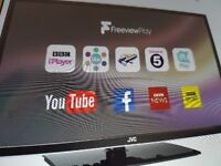 """JVC 32"""" Smart TV in excellent condition.. Barely 6 months old and hardly used"""