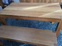 Oak Dining Table and matching Bench