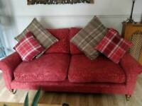 Three seater and chair