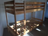 IKEA Mydal bunk bed frame (pine) for sale