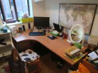 Revolution Left Hand Corner Desk Beech Finish 1600mmx800mmx730mm £40