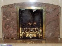 GAS FIRE Cast Iron and Brass : Good Quality