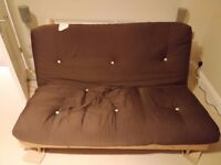 Double Sofa bed / futon - wooden base - SE London