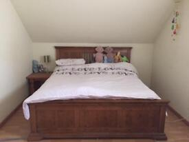 Oak super king sized bed