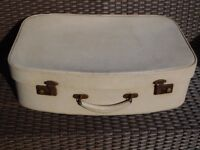 Vintage oatmeal 50's/60's suitcase
