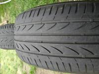 2x Set of Tyres LANDSAil 215/55/ 17 / 94Wgood condition for drive