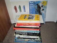 Collection of Books Travel Transport Cars Motorcycles Harley Calendar Posters Cards Job Lot