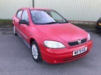 2000 W VAUXHALL ASTRA 1.6 EXPRESSION 5 DR HATCHBACK M.O.T 06/06/2018