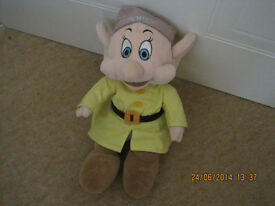 """DISNEY """"DOPEY"""" CHARACTER from SNOW WHITE - SOFT TOY - genuine Disney IMMACULATE"""