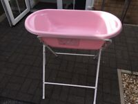 Infant bath with stand