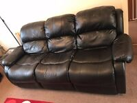 Recliner sofa (three plus two seater) Good condition