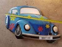Designer wall mounted decorative Car design for kids Bedroom or Playroom. Excellent condition.