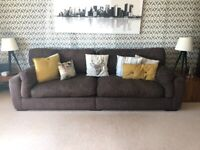 Large 4 seater sofa, snuggles chair and storage footstool