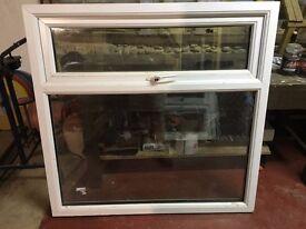 One double glazed window with sills.