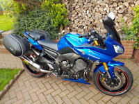 Yamaha FZ8 Fazer abc, blue 11350 Miles, excellent condition, lots of extras