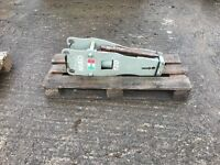 Rock Hammer suits 1.5 to 4.5 ton unused various brackets