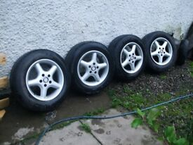 5 stud 15 inch alloy wheels with little used 195/65 x 15 tyres
