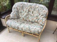 2 Seater cane sofa.