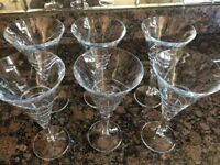 Brand New large Martinin Glasses - Crystal