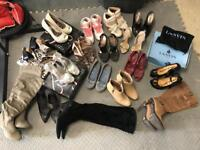 17 pairs of size 5 (38) ladies shoes boots trainers