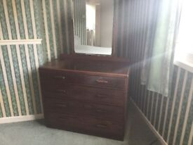 Bedroom dressing table with mirror.