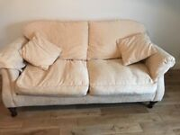 Matching 2 seater Sofas in Cream / Ivory.