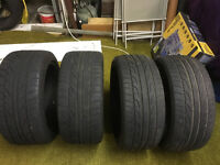 225/45 zr17 & 245/40 zr17 tyres worn but legal ideal track day tyres