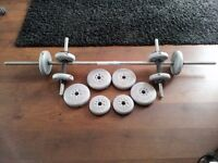 York Adjustable Barbell & Dumbell Set - up to 22.5 kg