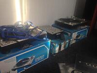 Decks,mikser,vinyls and headphones