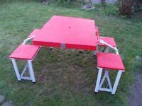 portable folding camping picnic table