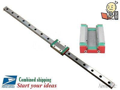 MGN12H Linear Sliding Guide / Block 250 300 350 400 450 500 550mm CNC 3D Printer