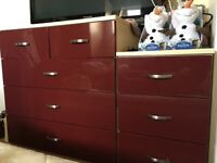 LIKE NEW 3 piece MATCHING furniture! Drawers, bedside table and Wardrobe