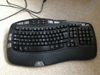 Logitech wave ergonomic computer keyboard