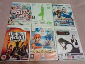 Wii bundle incl mario and sonic £6 for all