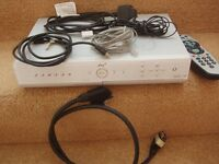 SKY plus box with all cables