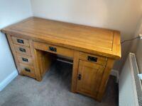 Rustic Solid Oak Desk